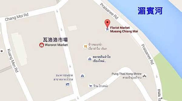 清邁中國城龍眼達叻夜市,平常版與水燈節Mae Ping River MAP s