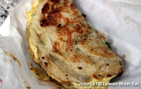 Taiwan Must-Eat,Taiwanese street food- Flaky scallion pancake