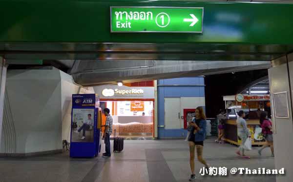 BTS捷運On Nu站橘色Super Rich匯兌所1號出口