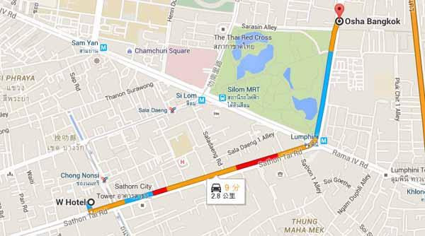 W Hotel, Silom, Osha Bangkok, 99 Witthayu Road
