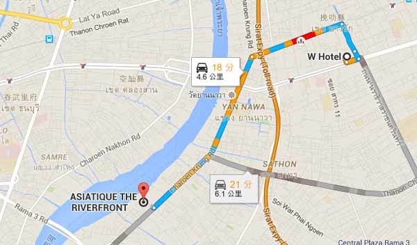 W Hotel, Silom Asiatique曼谷最美河濱夜市