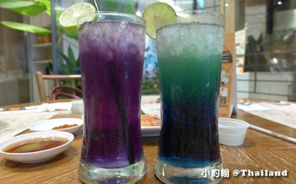 Eathai Food Court Supermarket曼谷百貨最泰美食街餐廳Central Embassy蝶豆汁.jpg