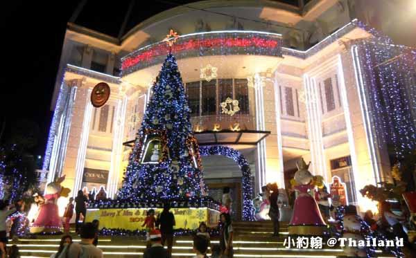 泰國曼谷Peninsula Plaza半島購物中心-聖誕節Christmas tree.jpg