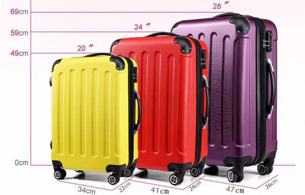 行李箱大小重量,挑選心得,20吋24吋28吋比一比2