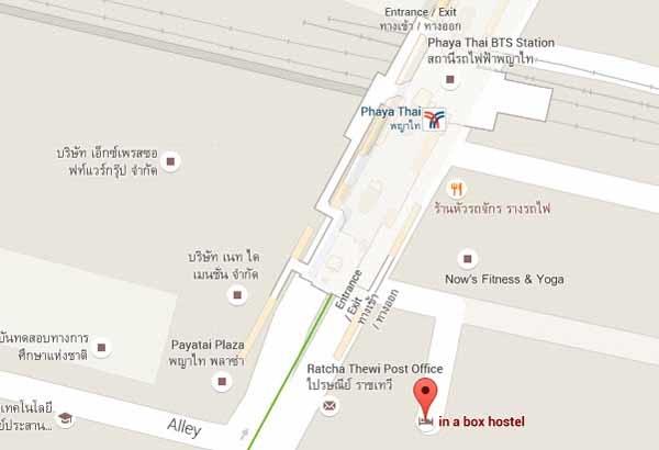 In a Box Hostel曼谷盒子背包客青年旅館@BTS Phaya Thai站MAP2.jpg