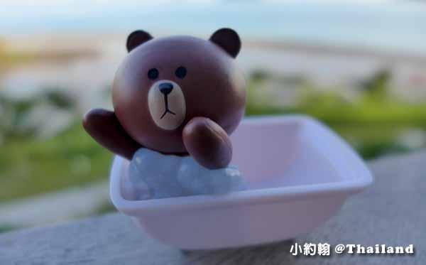 LINE FRIENDS Desktop Item Set熊大免免桌上公仔手機吸盤座1.jpg