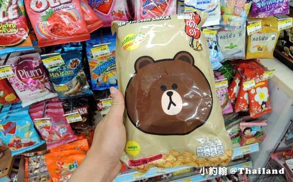 泰國曼谷7-11 LINE FRIENDS 熊大洋芋片.jpg
