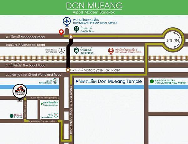 Don Muang Airport曼谷廊曼機場周邊地圖map