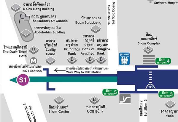 Dusit Thani Bangkok 曼谷杜斯特塔尼五星級飯店@Sala Daeng map.jpg