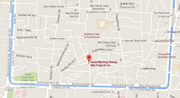 Good Morning Chiang Mai Tropical Inn早安清邁熱帶旅館MAP