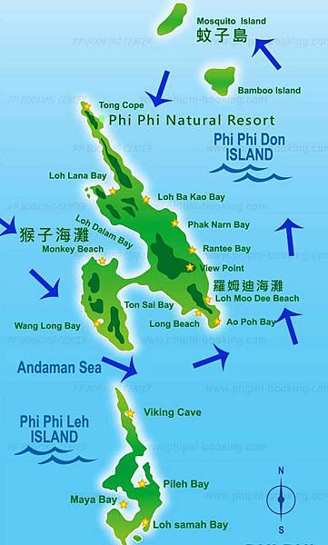 PP島一日遊Phi Phi Islands day tour MAP.jpg