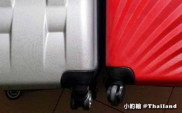 行李箱選購心得實用性-滾輪設計