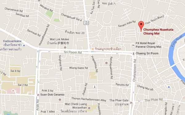 Chumphea Nuaekata Chiang Mai map.jpg