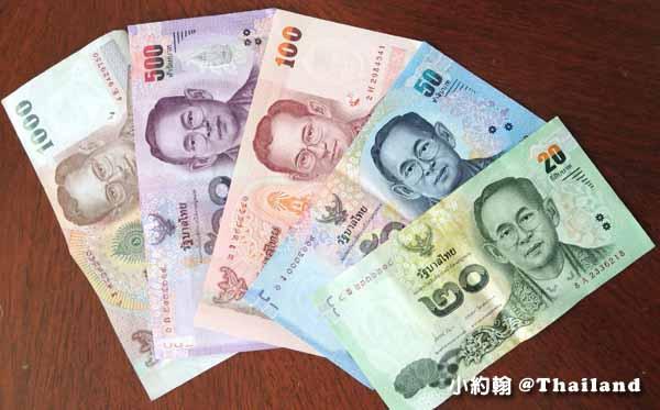 泰銖紙鈔20銖50銖100銖500銖1千銖