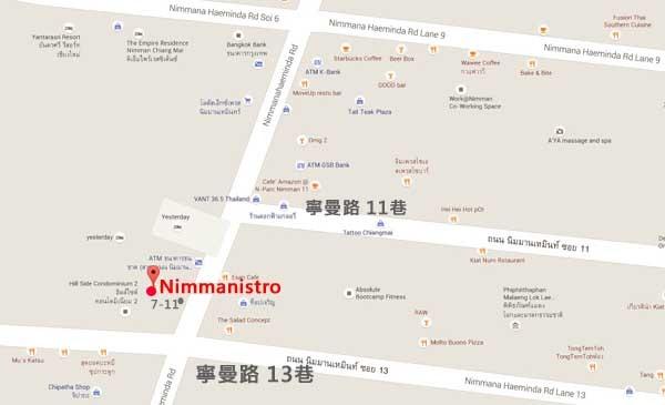 清邁寧曼Nimmanistro餐廳MAP.jpg