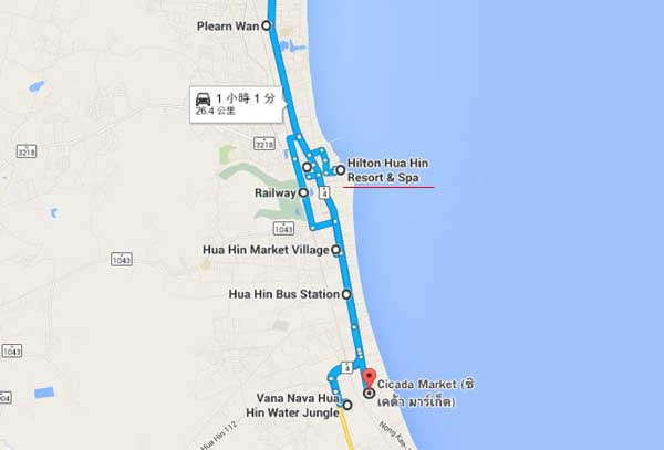 Hilton Hua Hin Resort & Spa MAP