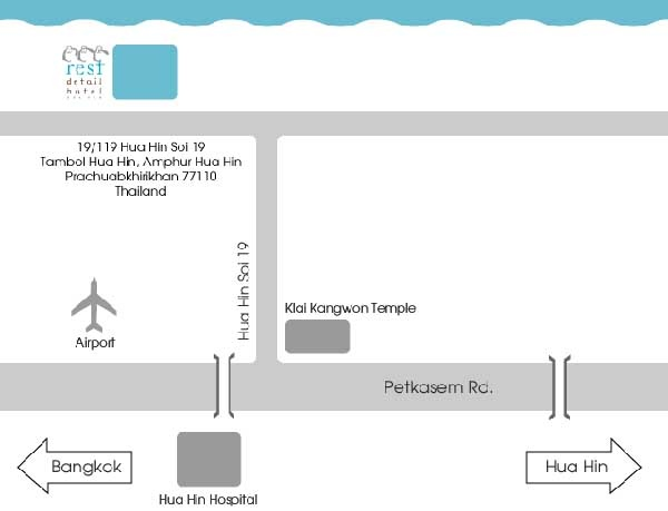 Rest Detail Hotel Hua Hin MAP