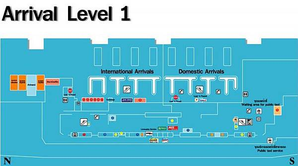 Don Muang Airport Luggage Storage Services MAP