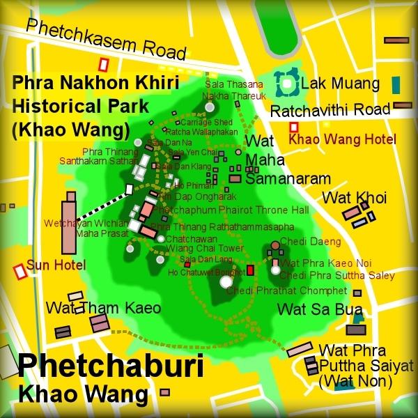 Khao Wang (Phra Nakhon Khiri Historical Park) MAP