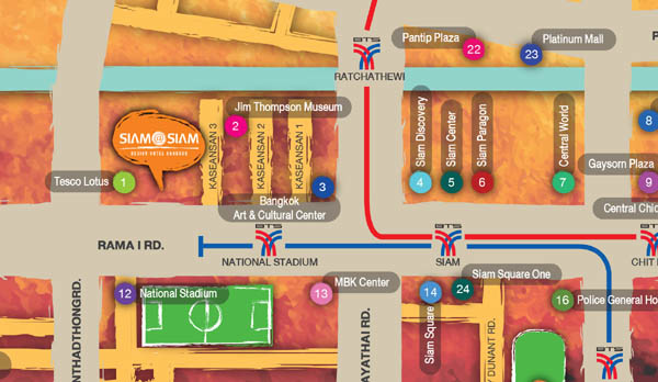 Bangkok Siam at Siam Design Hotel map.jpg