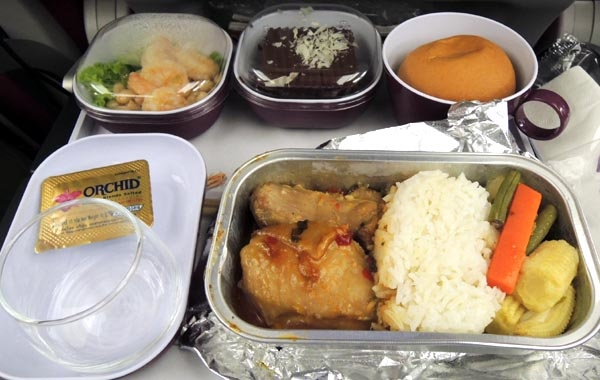 Thai Airways泰國航空機上晚餐.jpg