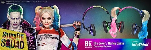 InfoThink 自殺突擊隊 耳罩式耳機 - 小丑女(Harley Quinn)