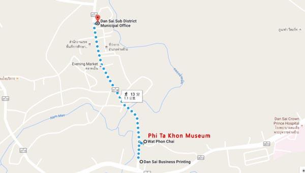 Ban Doen Phi Ta Khon Museum@Wat Phon Chai map.jpg