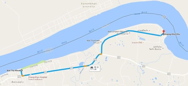 Chiang Khan Kaeng Khut Khu map