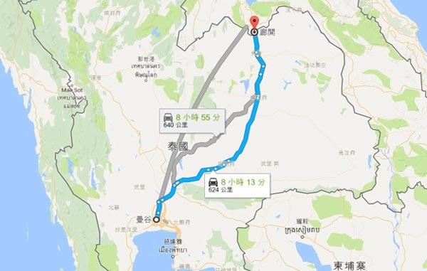 廊開府Nong Khai map