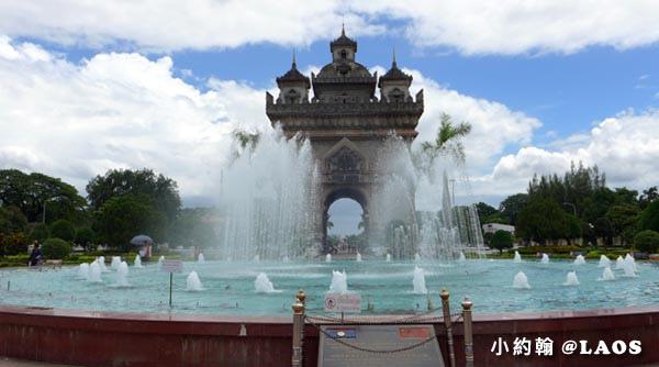 寮國永珍熱門景點凱旋門 (Patuxay Monument)