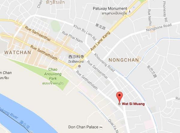 Wat Si Muang(Vat Simuong)西孟寺map