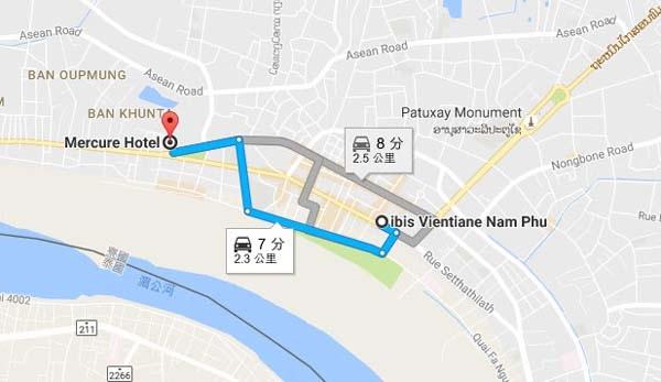 Ibis Vientiane Mercure Hotel Vientiane map