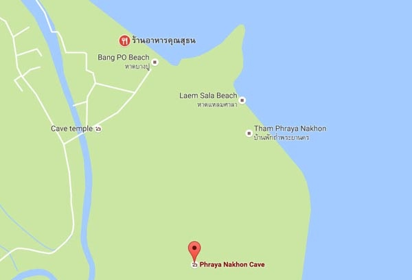 Phraya Nakhon Cave帕亞那空穴中廟 MAP