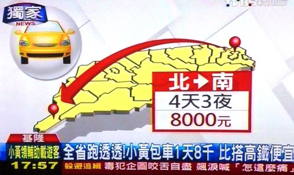 台灣包計程車費用