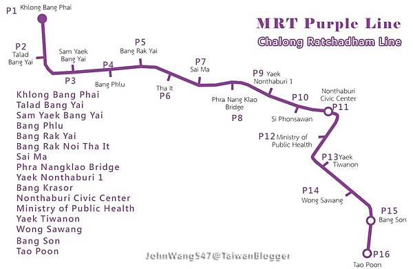 BANGKOK MRT Purple Line2016 BY JOHN547