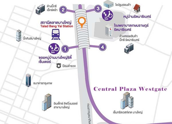 Talad Bang Yai CentralPlaza WestGate map.jpg