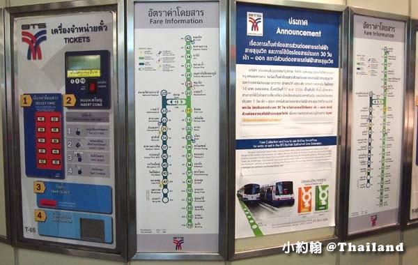 曼谷BTS空中捷運(BTS Skytrain)購票機1