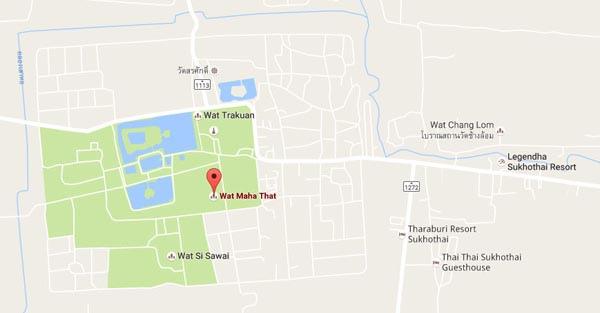 Wat Mahathat Sukhothai MAP