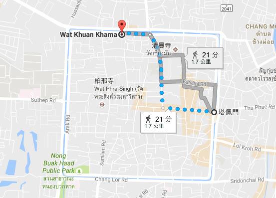 清邁金馬寺Wat Kuan Kama@Chiangmai MAP.jpg