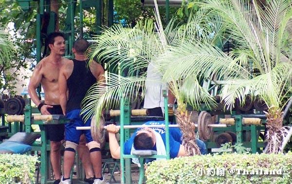 泰國曼谷是樂園(Lumphini Park) 露天健身區