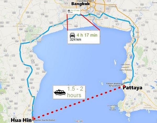 Pattaya-Hua Hin ferry
