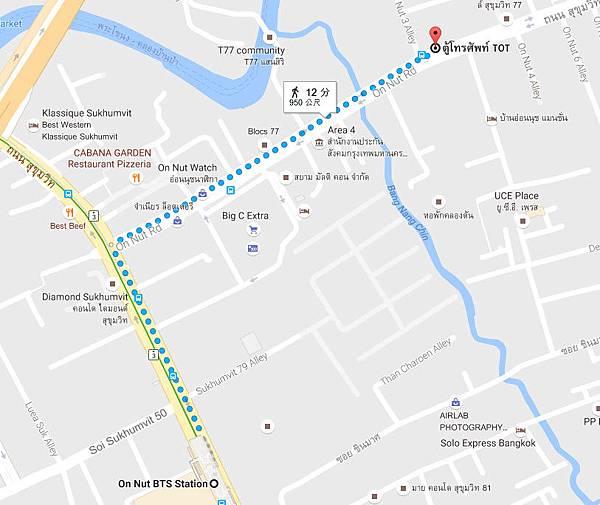 Wat Tai  On nut bangkok MAP.jpg