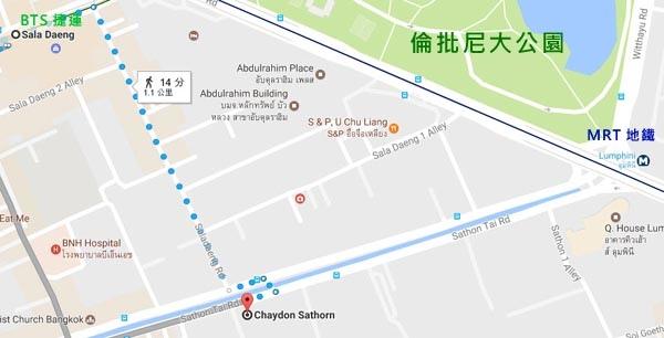 Chaydon Sathorn Hotel Bangkok map.jpg