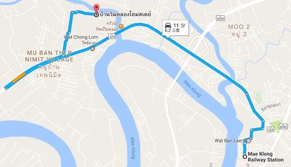 Baanrimklong Homestay MAP.jpg
