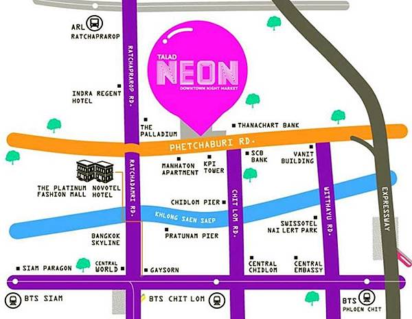 Bangkok Talad Neon-Downtown Night Market MAP.jpg