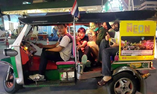 Bangkok Talad Neon-Downtown Night Market tuk tuk.jpg