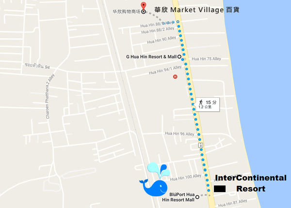 BLUPORT Hua Hin Resort Mall  MAP