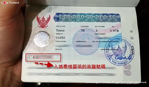 泰國觀光簽證圖案