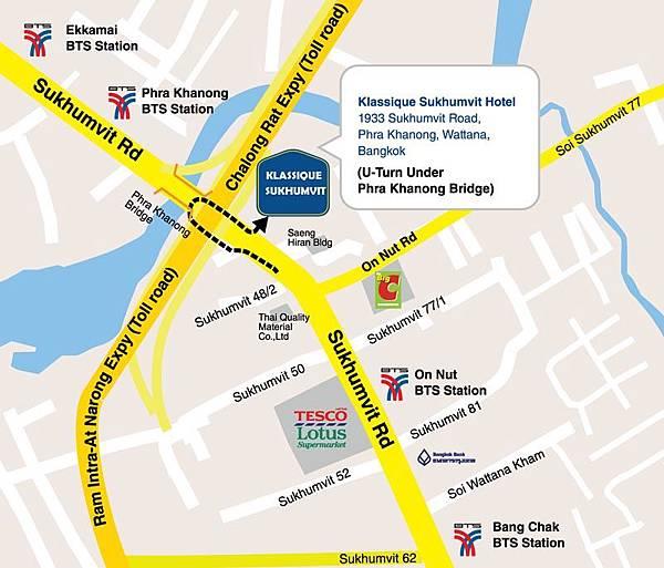 Klassique Sukhumvit hotel MAP2.jpg
