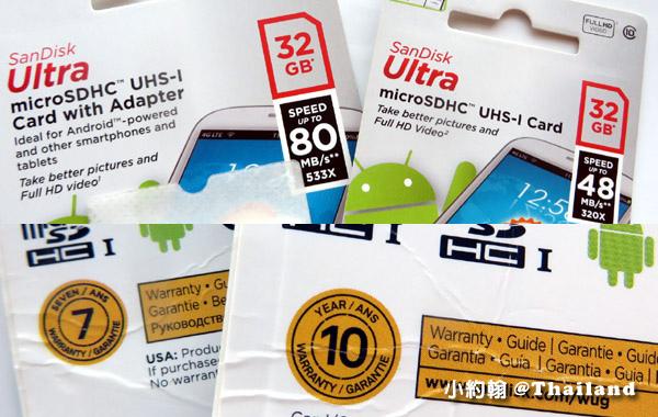 SandiskSD記憶卡c10速度不同保固年限不同.jpg